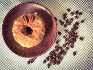 Cronut,croissant and doughnut mixture