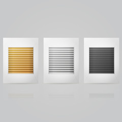 Illustration of window louvers in frame