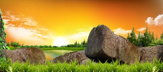 Beautiful view Nature Background