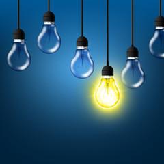 Einzigartige Glühbirne