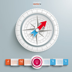 White Compass Infographic Circle Banners