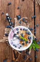 Homemade Blueberry Yogurt