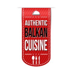 Authentic balkan cuisine banner design