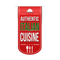 Authentic italian cuisine banner design