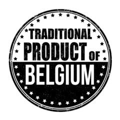 Traditional product of Belgium stamp