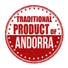 Traditional product of Andorra stamp
