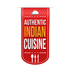 Authentic indian cuisine banner design