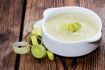Fresh made Leek Soup