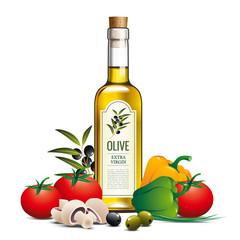 Huile d'olive et légumes