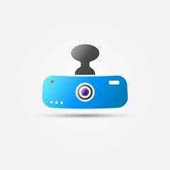 Bright car digital video recorder vector icon