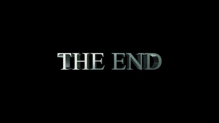 The end title