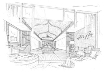 sketch design bedroom,interior design