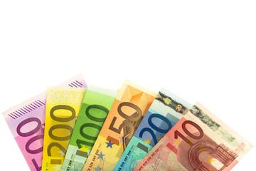 Fächer aus Euro Banknoten