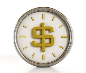 Dollar shape inside the clock