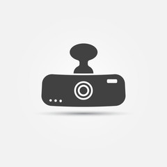 Car digital video recorder vector icon