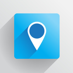 Geo tag pin icon - illustration