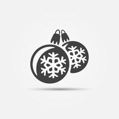 Christmas ball vector icons