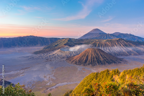 Sunrise at Bromo mountain