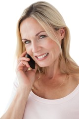 Beautiful mature woman using mobile phone