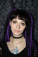 Portrait of pretty Cyber Girl