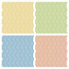 Set - farbiger Wellen Hintergrund - endlos