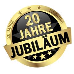 """Button mit Banner """" 20 JAHRE JUBILÄUM """""""