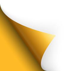 Papier / Seite umschlagen unten links gelb