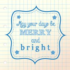 christmashand drawn greeting
