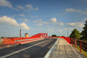 Krajobraz miejski, most kratowy