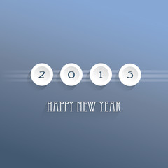 Happy new year 2015 - vector background