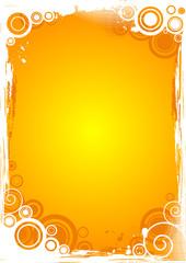 Vector grunge circle background in orange