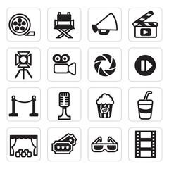 set icon of cinema