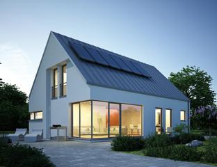 Haus weiss Zinkblechdach