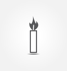candle icon vector illustration
