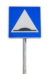 Traffic sign warning about a speed bump ahead  2