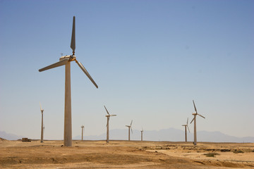 Windmills in Hurghada desert