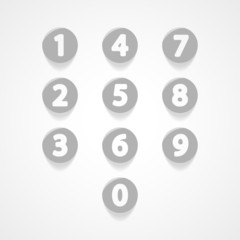 Numbers set web icon