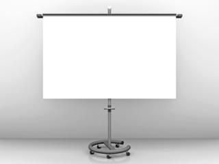 Leere Präsentationstafel