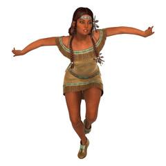 Dancing Native American Woman