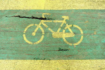 Damaged bicycle lane