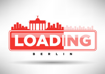 Berlin Skyline Loading Typographic Design