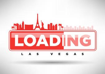Las Vegas Skyline Loading Typographic Design
