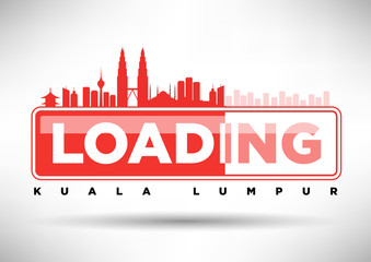 Kuala Lumpur Skyline Loading Typographic Design