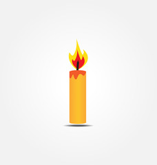 color candle vector icon vector illustration