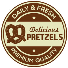 pretzels label