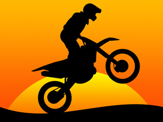 Motorcycle race in the desert