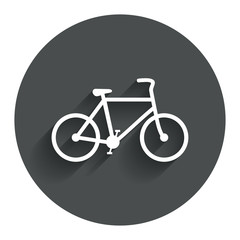 Bicycle sign icon. Eco delivery.