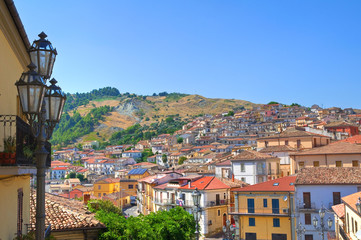 Panoramic view of Oriolo. Calabria. Italy.