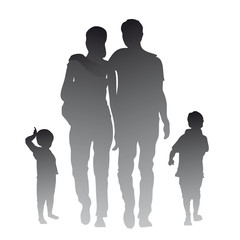 Familie - Silhouette