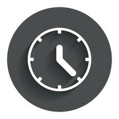Clock sign icon. Mechanical clock symbol.